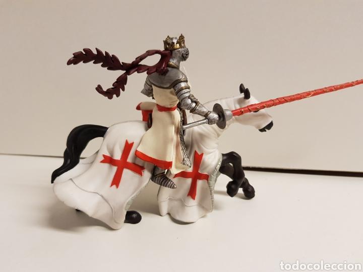 Figuras de Goma y PVC: Rey medieval a caballo de justa en goma plástica papo - Foto 4 - 122096754