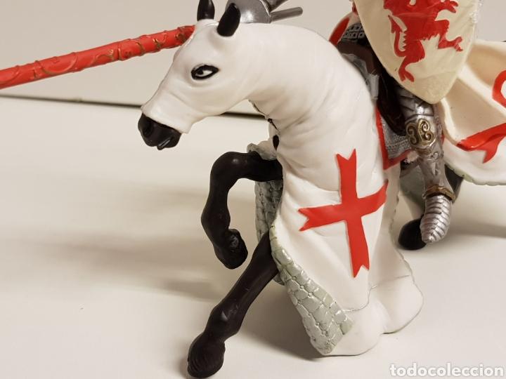 Figuras de Goma y PVC: Rey medieval a caballo de justa en goma plástica papo - Foto 5 - 122096754