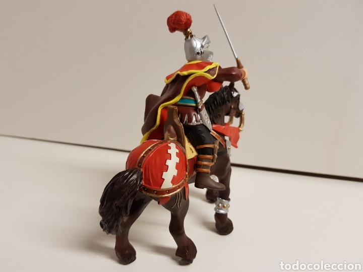 Figuras de Goma y PVC: Caballero medieval con escudo flor de lis número 550 papo hecho en goma plástica - Foto 4 - 122098119