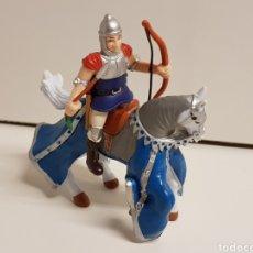 Figuras de Goma y PVC: ARQUERO MEDIEVAL A CABALLO MEDIDAS 10 X 10 CM FABRICADO EN GOMA PLÁSTICA. Lote 122102628
