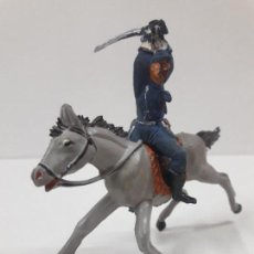 Figuras de Goma y PVC: SOLDADO FEDERAL A CABALLO . REALIZADO POR PECH . AÑOS 50 EN GOMA. Lote 122122991