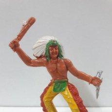 Figuras de Goma y PVC: GUERRERO INDIO . REALIZADO POR M. SOTORES . AÑOS 60. Lote 122132911