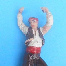 Figuras de Goma y PVC: BAILAOR ARAGONÉS, BAILANDO LA JOTA. ORIGINAL DE JECSAN AÑOS 60 DEL S.XX. SERIE PAREJAS REGIONALES.. Lote 122260067