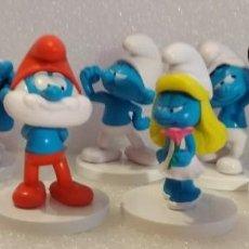 Figuras de Goma y PVC: 7 FIGURAS DE LOS PITUFOS. PVC. 8-9CM. Lote 122304435