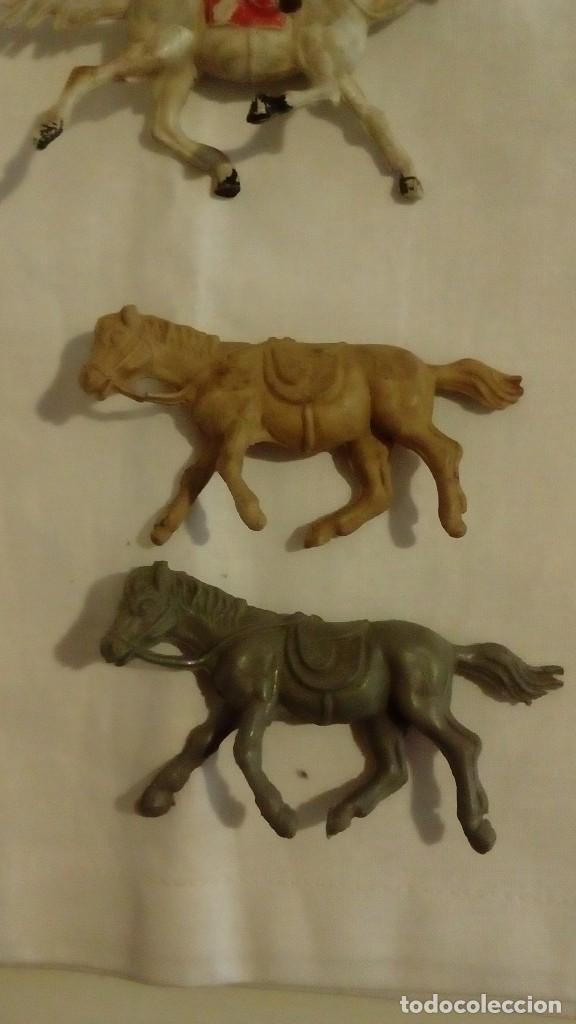 Figuras de Goma y PVC: LOTE 6 CABALLOS AÑOS 50 - 60 JECSAN ? PECH ? REAMSA ? - Foto 4 - 122562111