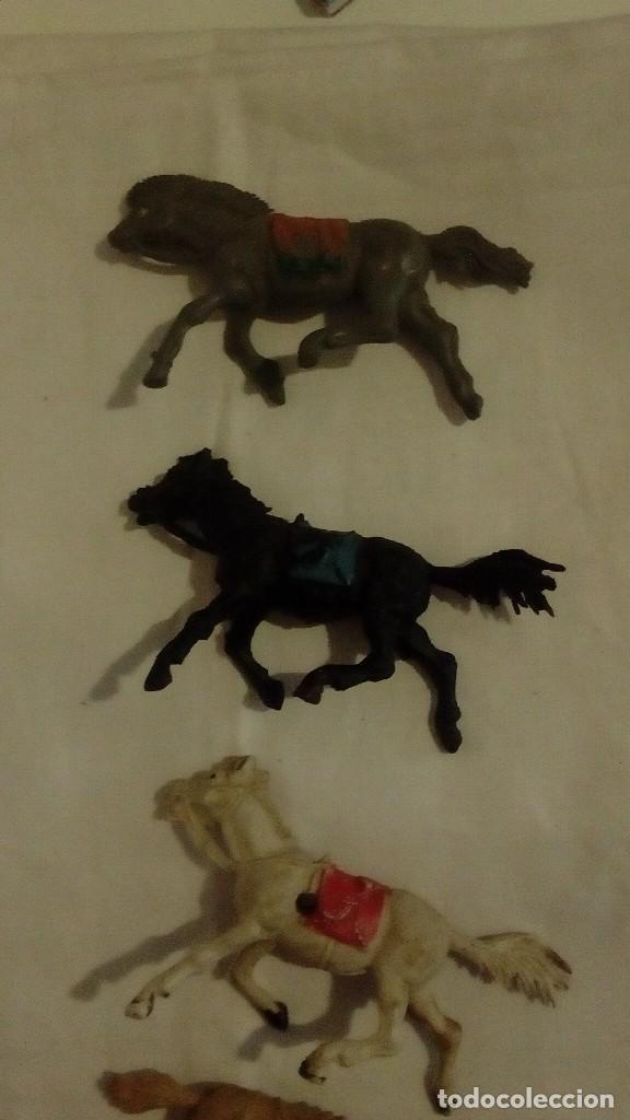 Figuras de Goma y PVC: LOTE 6 CABALLOS AÑOS 50 - 60 JECSAN ? PECH ? REAMSA ? - Foto 5 - 122562111