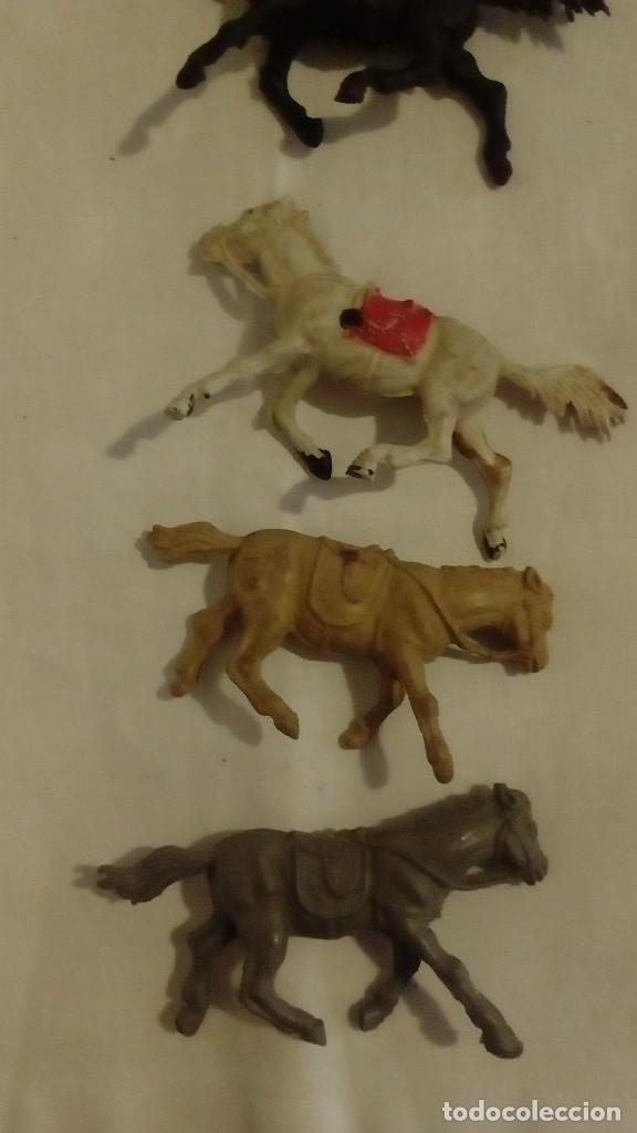 Figuras de Goma y PVC: LOTE 6 CABALLOS AÑOS 50 - 60 JECSAN ? PECH ? REAMSA ? - Foto 6 - 122562111