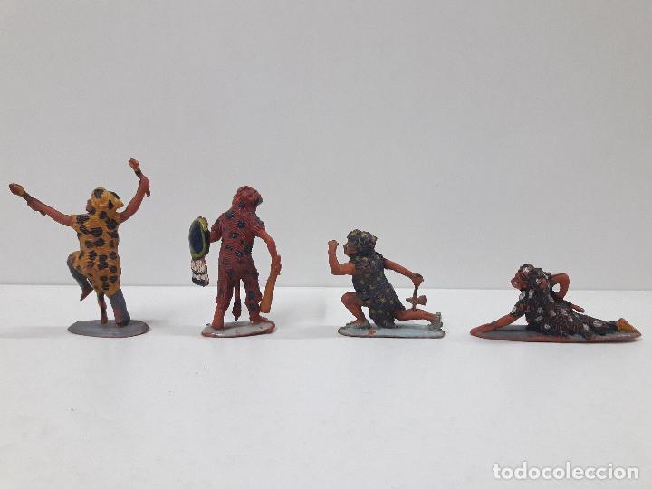 Figuras de Goma y PVC: SERIE COMPLETA DE INDIOS AZTECAS . REALIZADOS POR PECH . AÑOS 50 EN GOMA - Foto 3 - 122587283