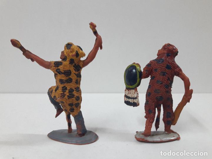 Figuras de Goma y PVC: SERIE COMPLETA DE INDIOS AZTECAS . REALIZADOS POR PECH . AÑOS 50 EN GOMA - Foto 5 - 122587283