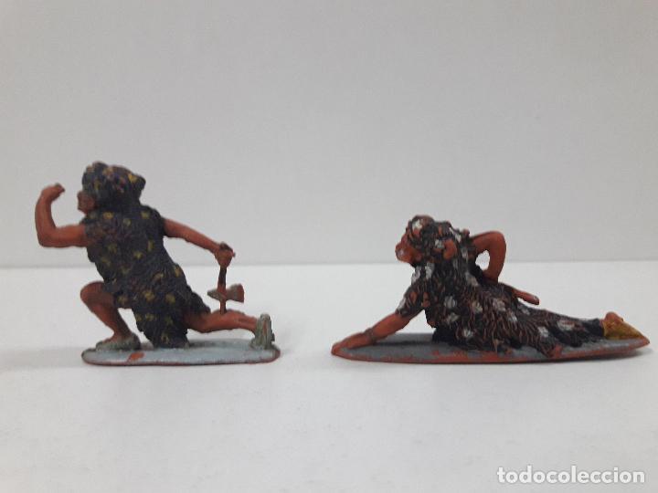 Figuras de Goma y PVC: SERIE COMPLETA DE INDIOS AZTECAS . REALIZADOS POR PECH . AÑOS 50 EN GOMA - Foto 7 - 122587283