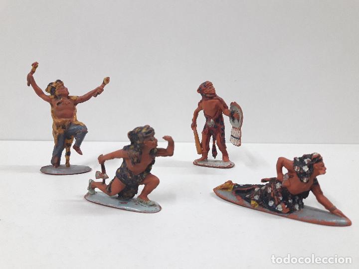 Figuras de Goma y PVC: SERIE COMPLETA DE INDIOS AZTECAS . REALIZADOS POR PECH . AÑOS 50 EN GOMA - Foto 8 - 122587283