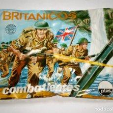 Figuras de Goma y PVC: SOBRE MONTAPLEX Nº 104 BRITÁNICOS COMBATIENTES - SOBRE CERRADO. Lote 199711093