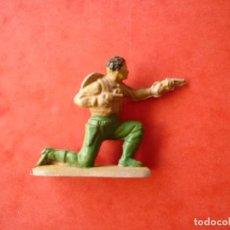 Figuras de Goma y PVC: FIGURA VAQUERO EN GOMA REAMSA. Lote 122655967