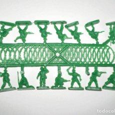 Figuras de Borracha e PVC: MONTAPLEX 1 COLADA DE SOLDADOS NEOZELANDESES DEL SOBRE Nº 160 - COLOR VERDE ANZAC. Lote 135942462