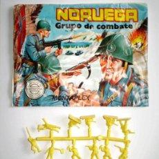 Figuras de Goma y PVC: MONTAPLEX SOBRE Nª 163 NORUEGA VACÍO + 1 COLADA DE SOLDADOS NORUEGOS. Lote 227754840