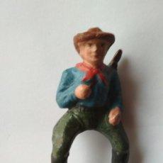Figuras de Goma y PVC: JINETE VAQUERO TIPO ELASTOLIN AÑOS 50. Lote 122755827