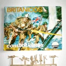 Figuras de Goma y PVC: MONTAPLEX SOBRE Nª 104 BRITÁNICOS VACÍO + 1 COLADA DE SOLDADOS INGLESES. Lote 227754815