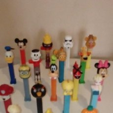 Dispensador Pez: LOTE 19 DISPENSARIOS PEZ, STAR WAR PATO DONALD MICKEY PIOLIN ETC. Lote 122899903