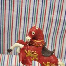 Figuras de Goma y PVC: FIGURA CABALLO MEDIEVAL ENCABRITADO DE PAPO . Lote 123208479