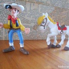Figuras de Goma y PVC: FIGURA LUCKY LUKE Y SU CABALLO - 2 FIGURAS - LUCKY LUKE 8 CM. DE ALTO - CABALLO 8 CM. DE ANCHO (DD). Lote 123311051