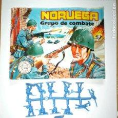 Figuras de Goma y PVC: MONTAPLEX SOBRE Nª 163 NORUEGA VACÍO + 1 COLADA DE SOLDADOS NORUEGOS AZULES. Lote 128879690