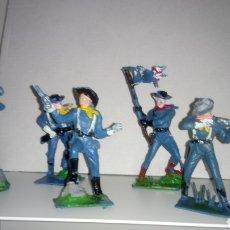 Figuras de Goma y PVC: LOTE DE 5 SOLDADOS FEDERALES DE PECH HERMANOS.. Lote 123487775