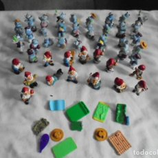 Figuras Kinder: 43 FIGURAS KINDER FERRERO HIPOPOTAMOS ENANITOS VER FOTOS. Lote 123547555