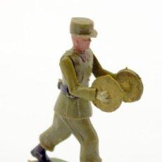 Figuras de Goma y PVC: SOLDADO DESFILE DE TEIXIDO - CON PLATILLOS - MUSICO - ARTICULADO - PLASTICO. Lote 123865187