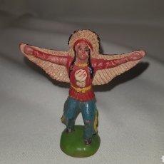 Figuras de Goma y PVC: INDIO ORIGINAL DE REAMSA N° 21 AÑOS 50. Lote 124004495