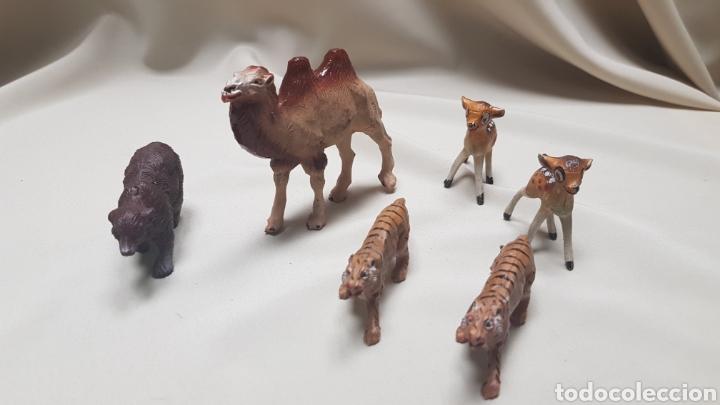 CAMELLO,OSO, 2 TIGRES ,2 CERBATILLOS Y UN LEON DE PECH (Juguetes - Figuras de Goma y Pvc - Pech)