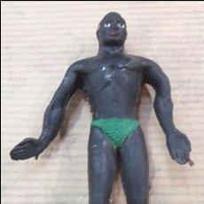 Figuras de Goma y PVC: FIGURA NEGRO ARCLA. Lote 124152184