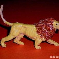 Figuras de Goma y PVC: LEÓN SERIE GRAN CIRCO, FABRICADO EN GOMA, JECSAN, ORIGINAL AÑOS 50-60.. Lote 124154391