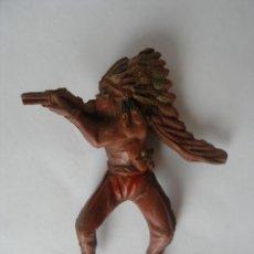Figuras de Goma y PVC: GUERRERO INDIO GOMA ( 6,5 CM ) AÑOS 50. Lote 124265707
