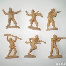Figuras de Goma y PVC: LOTE MONTAPLEX - 6 SOLDADOS GRANDES - COLECCIÓN COMPLETA. Lote 124311915