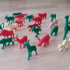 Figuras de Goma y PVC: DUNKIN COLECCIÓN ANIMALES ORZOWEI MATUTANO AÑOS 80 TITO 23 FIGURAS. Lote 106967419