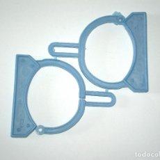 Figuras de Goma y PVC: MONTAPLEX - ESPOSAS GRILLETES COLADA COMPLETA - COLOR AZUL. Lote 124401495