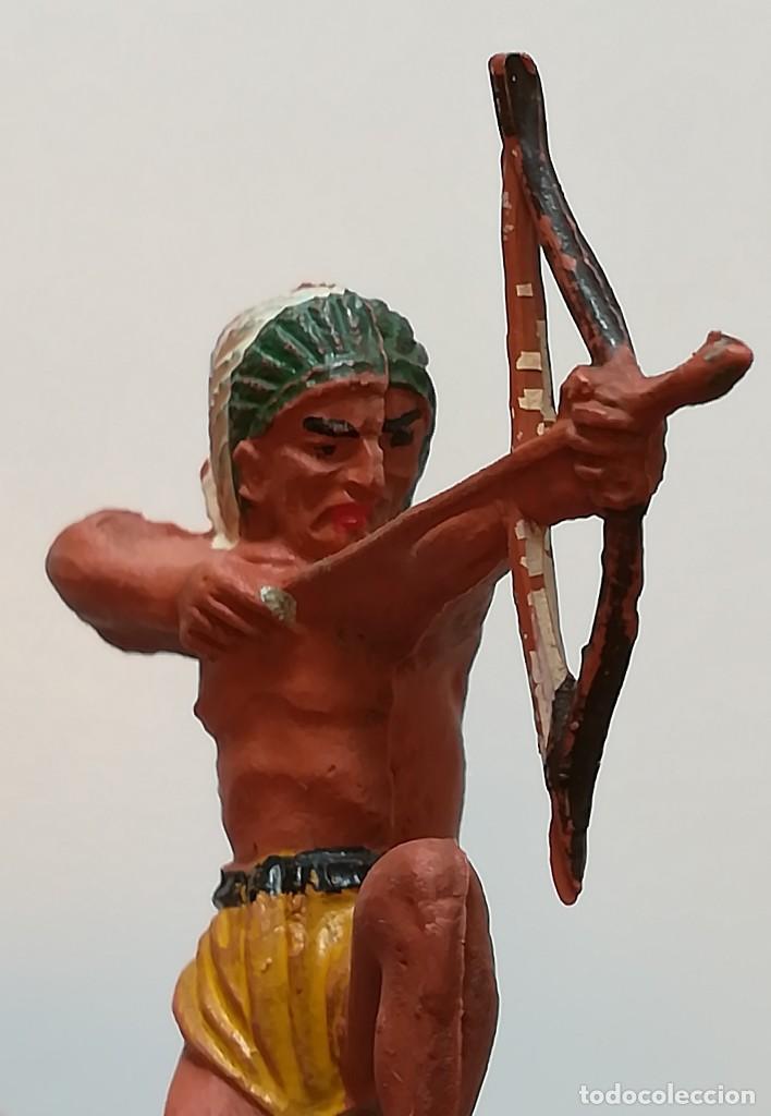 Figuras de Goma y PVC: FIGURA INDIO GOMA PECH HERMANOS - Foto 2 - 124426399