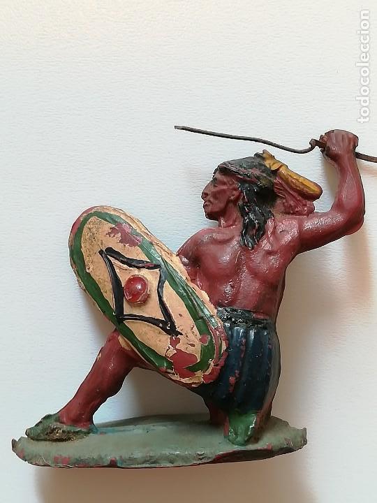 Figuras de Goma y PVC: FIGURA INDIO GOMA PECH HERMANOS - Foto 4 - 124426443