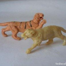 Figuras de Goma y PVC: TIGRE Y LEONA CAPELL ? PLÁSTICO AÑOS 50 - 60. Lote 124446339
