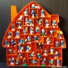 Figuras de Goma y PVC: CASA ESTANTE PARA COLGAR BULLY GERMANY PARA PITUFOS Y OTRAS FIGURAS 48 X 47 CM. Lote 158352889