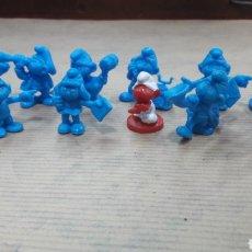 Figuras de Goma y PVC: LOTE 12 PITUFOS DUNKIN. Lote 124706723