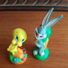 Figuras de Goma y PVC: FIGURA PVC PIOLIN Y BUGS BUNNY MARCA DORDA. Lote 124747046