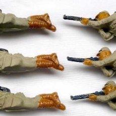 Figuras de Goma y PVC: JECSAN. 6 JAPONESES. GOMA. AÑOS 50. MUY BUEN ESTADO. JAPONES.. Lote 124806751