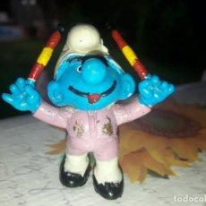 Figuras de Goma y PVC: PITUFO TORERO BANDERILLERO.. Lote 124946583