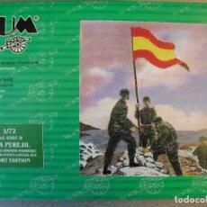 Figuras de Goma y PVC: BUM - MONTAPLEX - MONTAMAN - 1/72 - ISLA PEREJIL. Lote 125069751