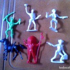 Figuras de Goma y PVC: LOTE DE INDIOS DE COMANSI AÑOS 70. Lote 125134231