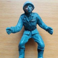 Figuras de Goma y PVC: ANTIGUA FIGURA EN PLASTICO SERIE SOLDADOS ALEMANES. OLIVER/PECH. 60 MM.. Lote 125184315