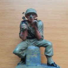 Figuras de Goma y PVC: ANTIGUA FIGURA EN PLASTICO SERIE SOLDADOS AMERICANOS. OLIVER/PECH. 60 MM.. Lote 125192271