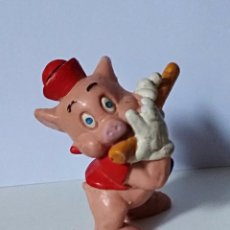 Figuras de Goma y PVC: CERDITO DISNEY. BULY. MADE IN GERMANY. FLAUTISTA.. Lote 125671083