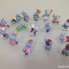 Figuras Kinder: KINDER,THE HIPPOS , HIPOPOTAMOS, 16 FIGURAS, NINGUNA REPETIDA. Lote 125748879